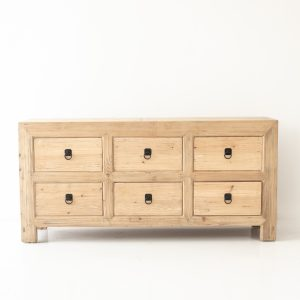Elm 6 Drawer Buffet