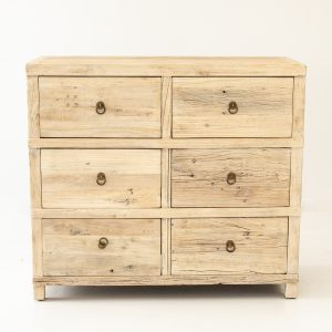 Elm 6 Drawer Chest