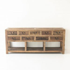 Fir 9 Drawer Console