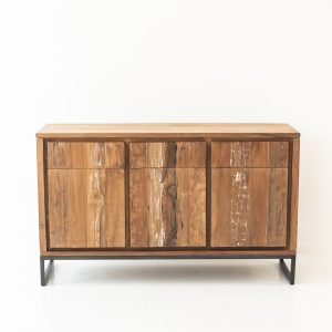 Teak Linear 3 Drawer 3 Door Buffet