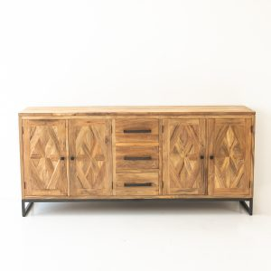 Teak Mascio 4 Door 3 Drawer Buffet