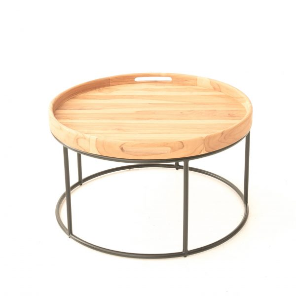 Teak : Metal Brooklyn coffee table