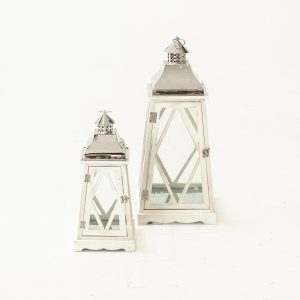 White Wash Hurrican Lamps